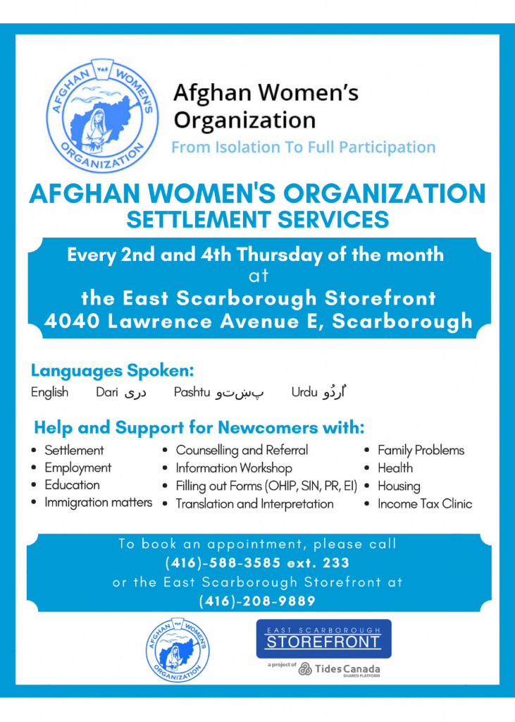 Afghan Women's Organization Poster
