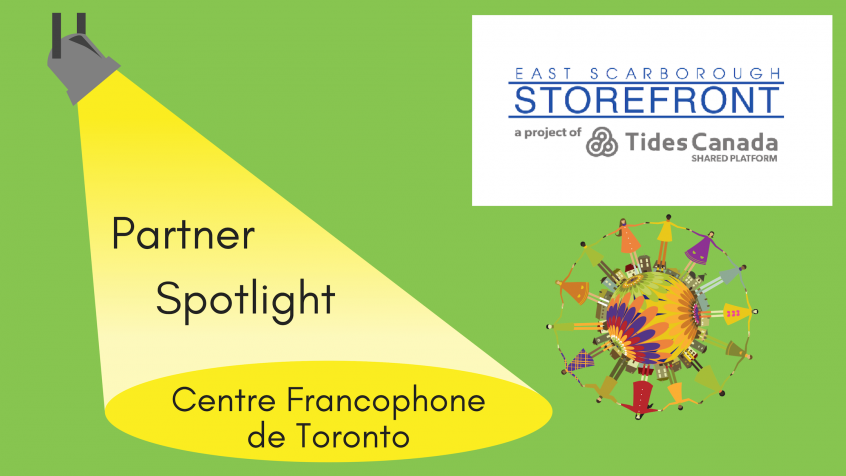 Graphic for Partner Spotlight - Centre Francophone at East Scarborough Storefront