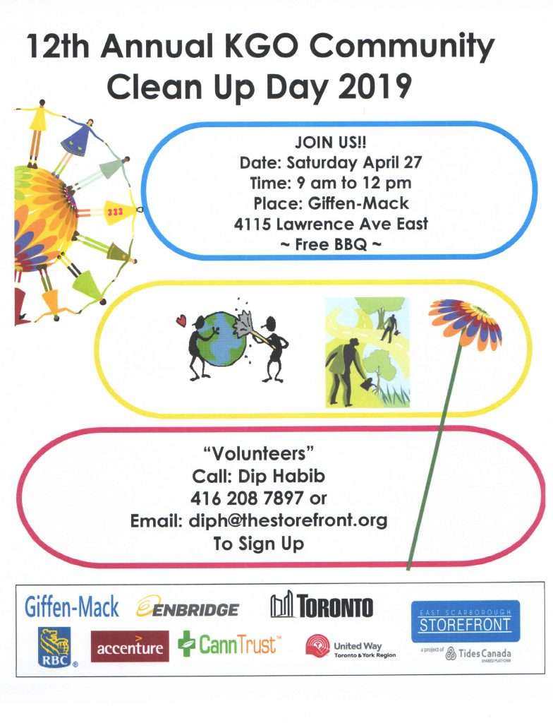 Poster about 2019 Clean up day. All details in event listing