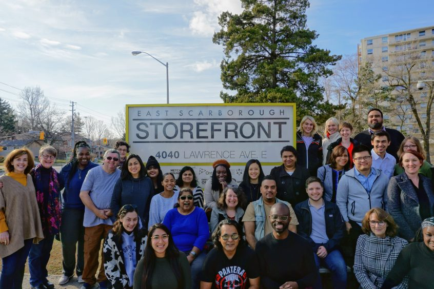 Picture of staff of The Storefront and steering committee